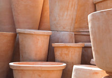 Clay flower pots Royalty Free Stock Photo