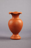 Clay Flower Vase immagine stock