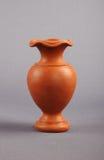 Clay Flower Vase Imagen de archivo