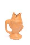 Clay flower vintage vase Stock Images