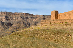 Clay fort in Morocco Atlas mountains Royalty Free Stock Image