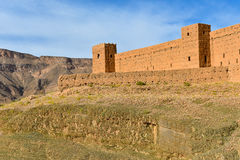 Clay fort wall in Morocco Royalty Free Stock Photography