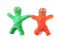 Clay friends Royalty Free Stock Photography