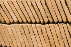 Clay garden paving tiles Royalty Free Stock Photos