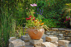 Clay garden planter Stock Images