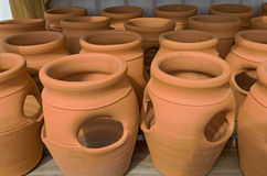 Clay Gardening Pots Stock Photo