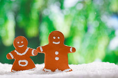 Clay  gingerbread boy and girl Royalty Free Stock Photography
