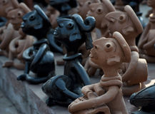 Clay handcrafts of Bengal, India. Stock Images