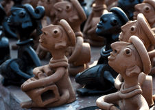 Clay handcrafts of Bengal, India. Beautiful clay handcrafts of Bengal, India Stock Images