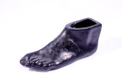 Clay Handmade Statue of a Black Foot Royalty Free Stock Image
