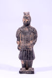 Clay Handmade Statue of an Indian Warrior Stock Images