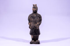 Clay Handmade Statue of an Indian Warrior Stock Photography