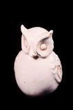 Clay Handmade Statue van een Uil Stock Foto