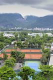 Aerial view tennis courts Stock Images