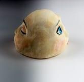 Clay Head Sculpture Depicting Day und Nacht Stockfoto