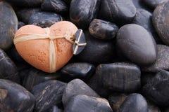 Clay Heart Royalty Free Stock Photo