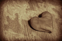 Clay heart Royalty Free Stock Image
