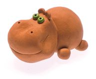 Clay hippopotamus II Stock Images
