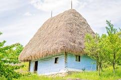 Clay House anziano blu-chiaro Immagini Stock