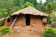 Clay house. The clay house in Lahu (North Tayland Stock Image