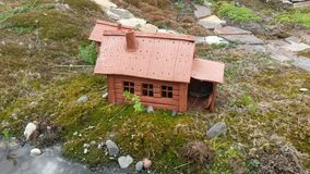Clay house. Start living in the Altai mountains Stock Photo
