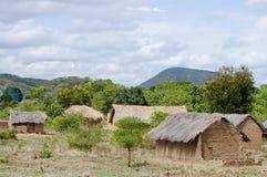 Clay Houses - Tansania Lizenzfreies Stockbild