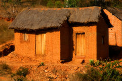 Clay hut. A Clay hut in Madagascar Royalty Free Stock Photo