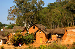 Clay hut. A Clay hut in Madagascar Stock Photography