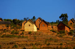 Clay hut. A Clay hut in Madagascar Royalty Free Stock Images