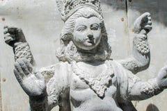 Clay idol of Goddess Durga, Kumartuli, Kolkata, West Bengal, India. KOLKATA, WEST BENGAL, INDIA - 25 SEPTEMBER 2016: Clay idol of Goddess Durga, under Royalty Free Stock Photo