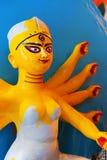 Clay idol of Goddess Durga, Kumartuli, Kolkata, West Bengal, India. KOLKATA, WEST BENGAL, INDIA - 25 SEPTEMBER 2016: Clay idol of Goddess Durga, under Royalty Free Stock Images
