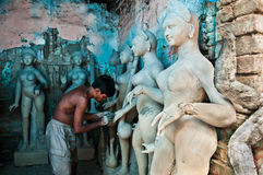 Clay idol maker Royalty Free Stock Images
