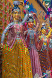 Clay idols of ethnic women Stock Photo
