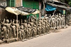 Clay idols for sale Royalty Free Stock Image