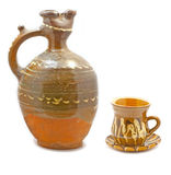 Clay jar and cup Stock Photography