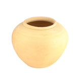 Clay jar on white background Royalty Free Stock Photography