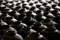 Clay jars in China Stock Photos