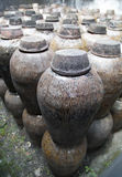 Clay jars in distillery Royalty Free Stock Image