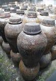 Clay jars in distillery royalty free stock image