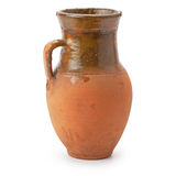 Clay jug handmade Stock Photo