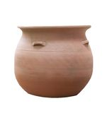 Clay jug  isolated on white . Stock Photos