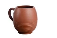 Clay jug, it is isolated Royalty Free Stock Images