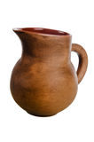 Clay jug, it is isolated Stock Photo