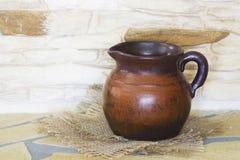 Clay jug, old ceramic vase Stock Photography