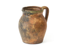 Clay jug, old ceramic vase Stock Photography
