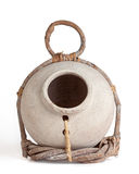 Clay Jug and Twig Birdhouse Royalty Free Stock Photo