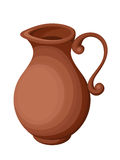 Clay jug. Vector illustration.