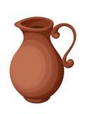 Clay jug. Vector illustration. Royalty Free Stock Photos