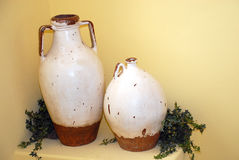 Clay jugs Stock Images