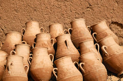 Clay jugs Stock Photography
